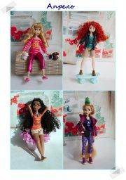 Aurora, Merida, Moana, Rapunzel